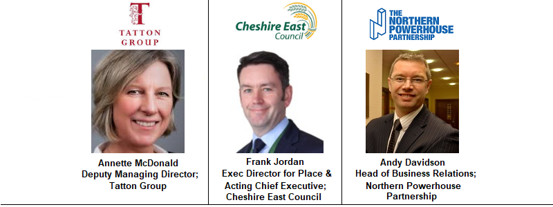 Frank Jordan Cheshire East Tatton Annette McDonald Northern Powerhouse Partnership Rail Infrastructure Regeneration