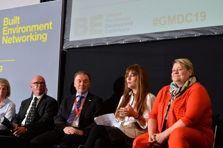 Robin-Phillips-Professor-Luke-Georghiou-Lou-Cordwell-and-Nicola-Headlam-at-Greater-Manchester-Development-Conference-2019
