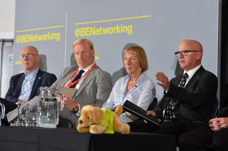 Sir-Richard-Leese-Stephen-Wild-Rowena-Burns-and-Robin-Phillips-at-Greater-Manchester-Development-Conference-2019