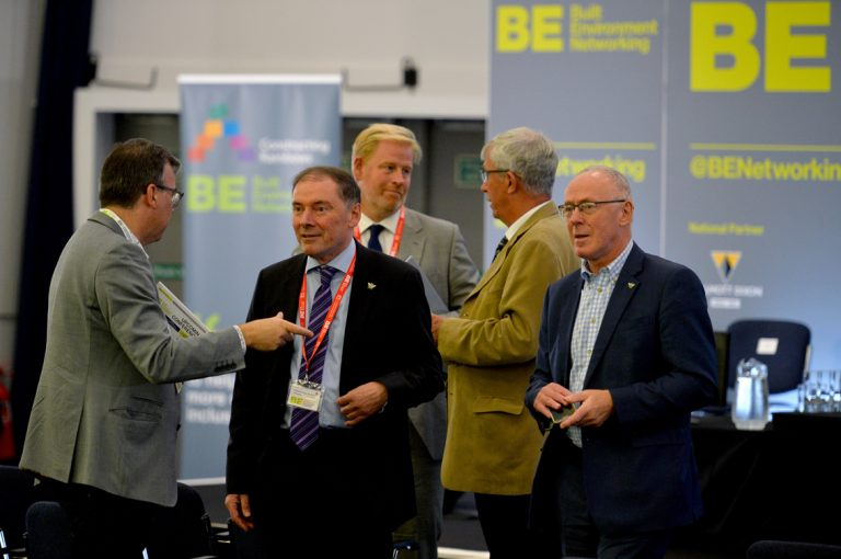 Speakers-from-the-Greater-Manchester-Strategy-Panel-talk-and-discuss-business-with-Attendees