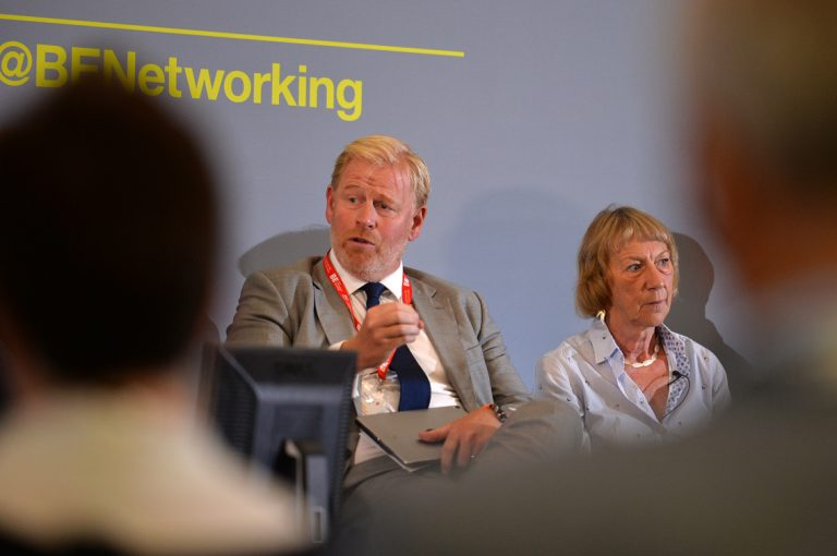Stephen-Wild-and-Rowena-Burns-at-Greater-Manchester-Development-Conference-2019