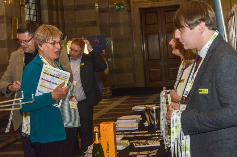Attendee's grab their badge at Leeds City Region Development Plans 2019