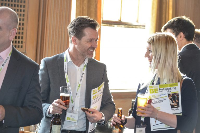 Attendee's greet each other for Leeds & West Yorkshire Development Plans