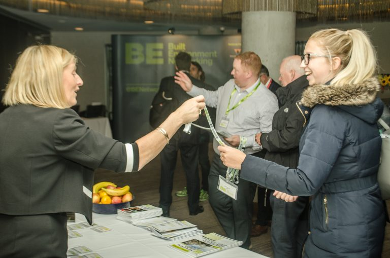 Attendee's welcomed into the conference