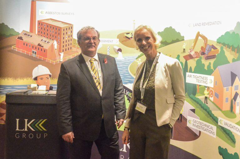Ian Deans and Helen Bennett of LK Group at London Development Plans 2018