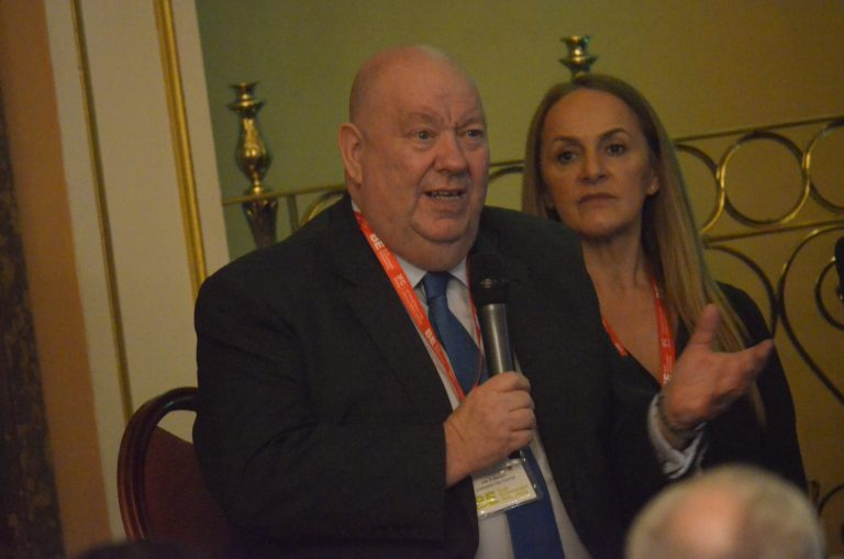 Joe Anderson answers a question from the Audience at Liverpool Development Plans 2018