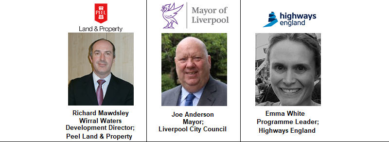 Mayor Liverpool Council Joe Anderson Highways England Peel Property Wirral Waters Plans