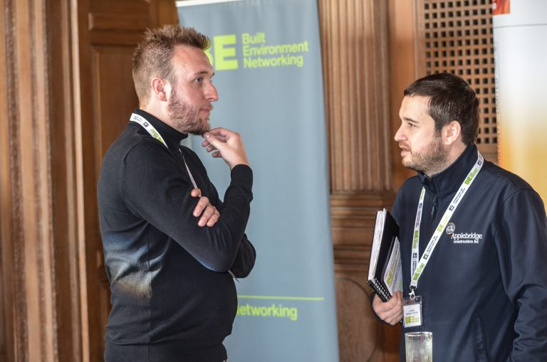 Matt Christie speaks to an Attendee at Leeds & West Yorkshire Development Plans