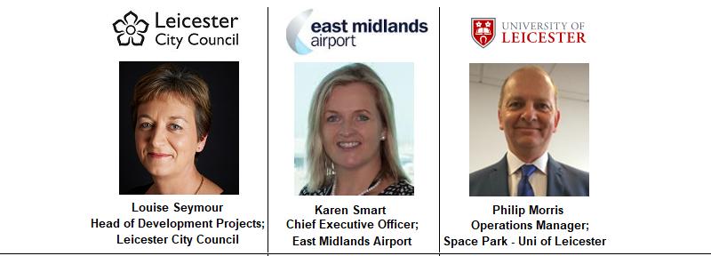 East Midlands Airport Karen Smart Paul Morris Space Park University Leicester County Council