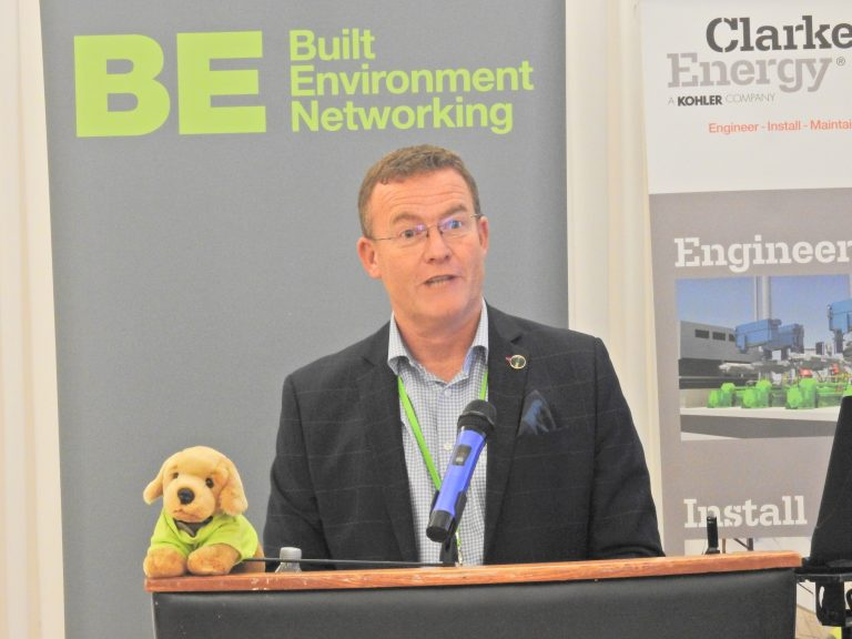 Phil Laycock Addresses the Crowd at Sunderland & North East Development Plans 2018