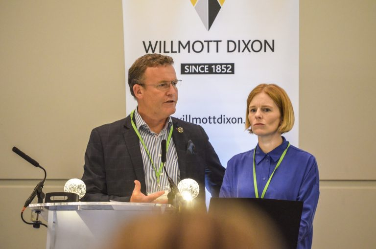 Phil Laycock and Lorna Carver of Dorset LEP Speak at Bournemouth Development Plans 2018