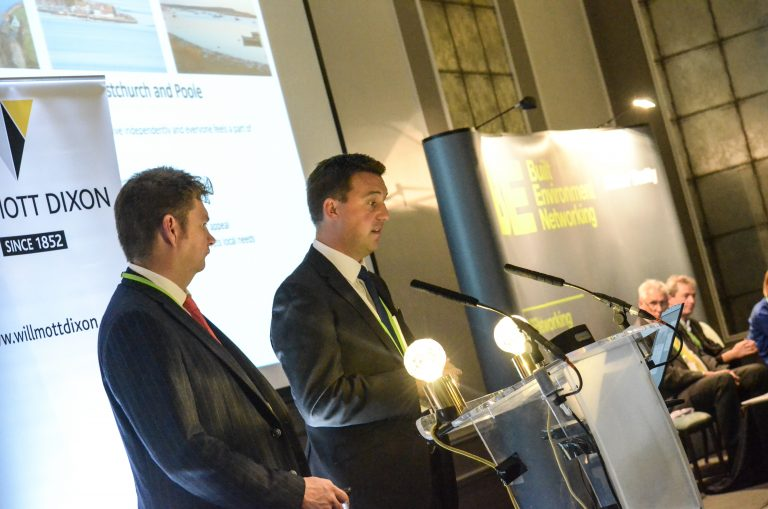 Philip Broadhead and Bill Cotton of Bournemouth Council speaks at Bournemouth Development Plans 2018