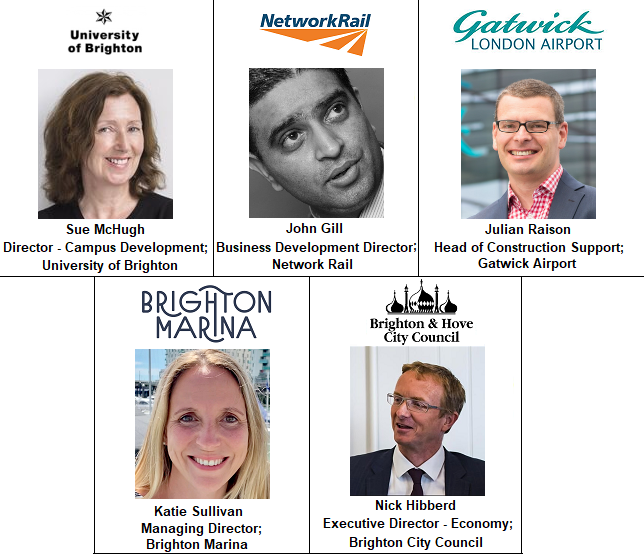 Speakers Brighton Marina Council Hove University Network Rail Gatwick Airport
