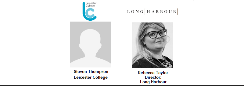 East Midlands Event Leicester College Long Harbour Rebecca Taylor Steve Thompson