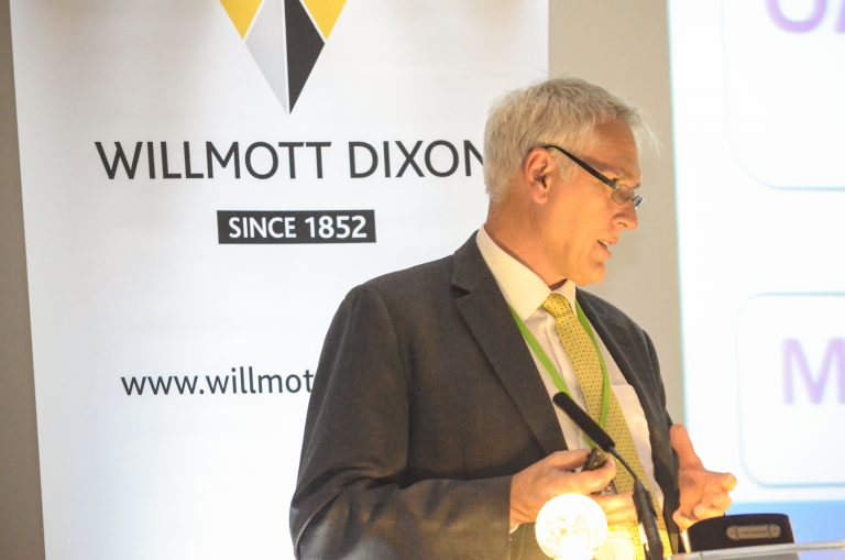 Willmott Dixon of RBCH NHS Trust Speaks at Bournemouth Development Plans 2018 at the Hilton Hotel
