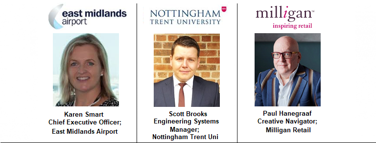 Speakers Nottimngham Trent Event University East Midlands Construction Property Airport Expansion Milligan Retail Creative Trade