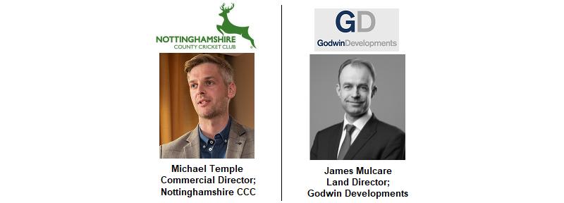 Michael Temple Nottinghamshire County Council Trent Bridge Cricket James Godwin Developments Landmark Derby Midlands