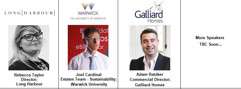 Birmingham Speakers Warwick University Expansion Joel Cardinel Adam Galliard Homes Long Harbour Rebecca Taylor