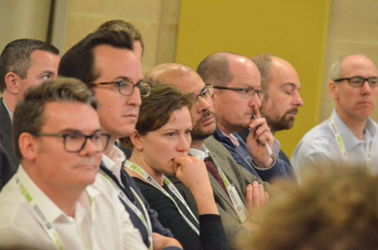 Attendee's watch the panel at Bristol Development Plans 2018