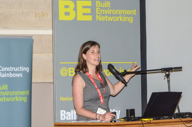Megan Streb of Sustrans speaking at Bristol Development Plans 2019