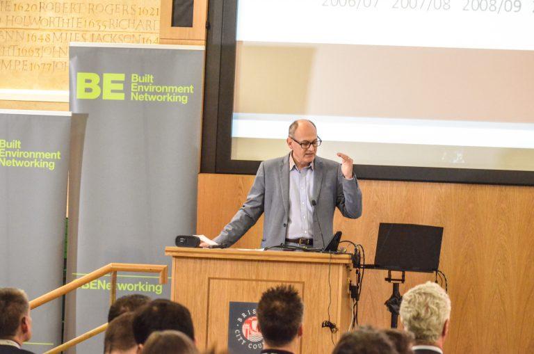 Paul Smith addresses the audience at Bristol Development Plans 2018