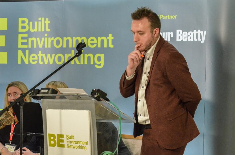 Matt Christie on stage at North East Development Plans 2019