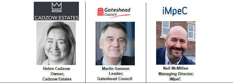 Newcastle Speakers 21 Managing Director Neil Milburngate impec Group Gateshead Council Newcastle North East Leader Michael Gannon Cadzow Estates Property Residential Durham Sunderland Stockton Cleveland Redcar Tyne