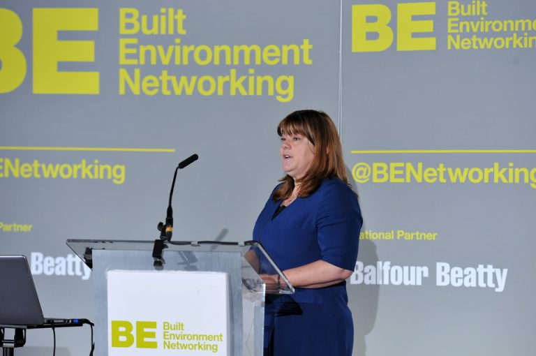 Amanda Keeton of Homes England at Manufacturing Conference & Exhibition 2019