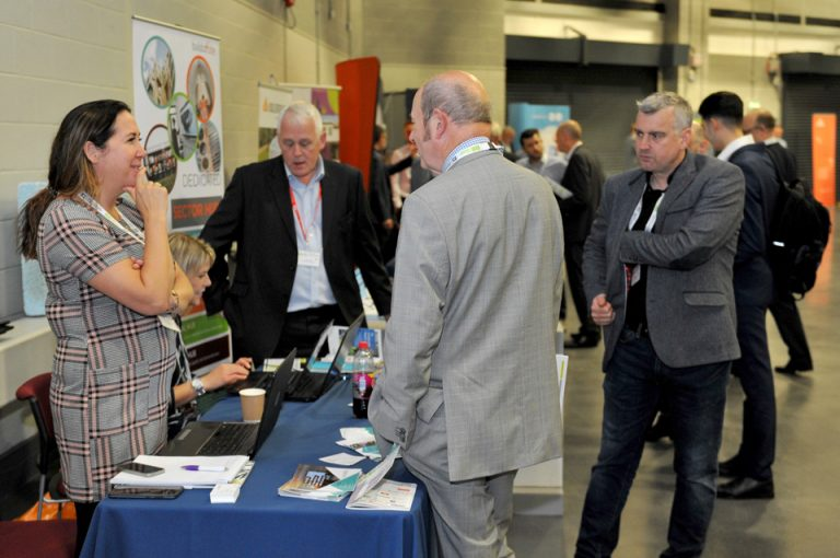 Attendees-inspect-the-stands-at-Manufacturing-Conference-Exhibition-2019
