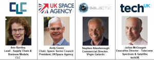 Stephen Attenborough Commercial Director Virgin Galactic UK Space Agency Andy Green Sector Council Ann Bentley CLC Construction Leadership Council techUK Julian McGougan