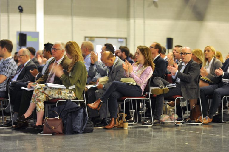 The crowd watching Manufacturing Conference & Exhibition 2019