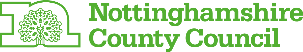 Nottinghamshire County Council Logo HS2 Supporter