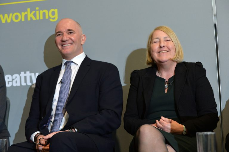 Jason-Robinson-and-Angela-ODonoghue-at-Thames-Estuary-Development-Conference-2019