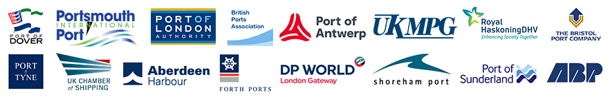 Port Logos Speakers Development Regeneration Brownfield Infrastructure Company DP World London Gateway Tilbury Tilbury2 Thames Dover Port Harbour Aberdeen London Authority Portsmouth Sunderland ABP Associated British