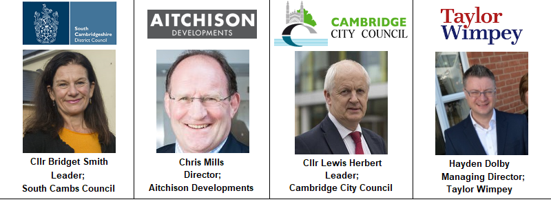Hayden Dolby Taylor Wimpey Managing Director East Anglia England Housing Aitchison Mills Chris Developments City Council Cambridge Leader Lewis Herbert Bridget Smith South Image Photo