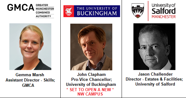 Speakers NEW 3 University Greater Manchester Combined Authority Salford Jason Challender Julian Chapham Buckingham Gemma Marsh Skills Education