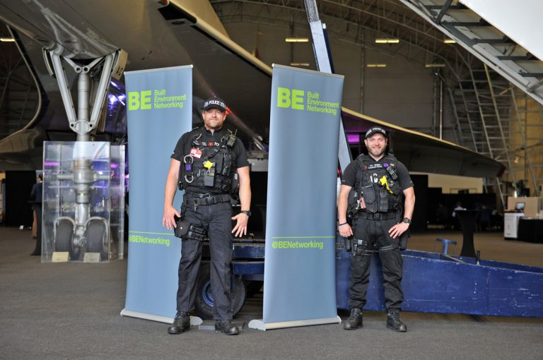 Police pose for picture with Concorde