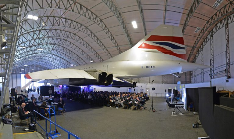 Concorde at the Concorde Centre in Manchester for Airport Cities Development Conference 2019