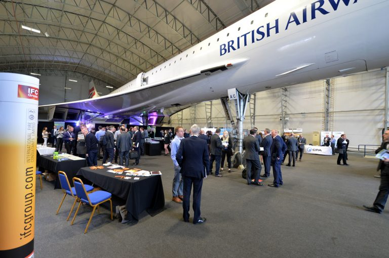 The view from underneath Concorde at Airport Cities Development Conference 2019