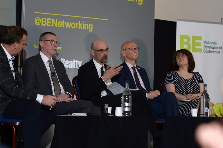 Anthony-May-Andrew-Pritchard-Martin-Reeves-and-Dawn-Baxendale-at-Midlands-Development-Conference-2019