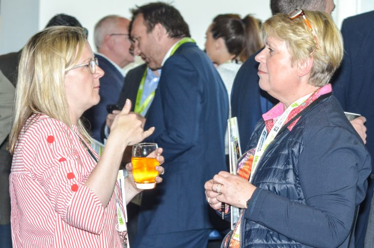 Attendee's networking befor the talks at Southampton & Hampshire Development Plans