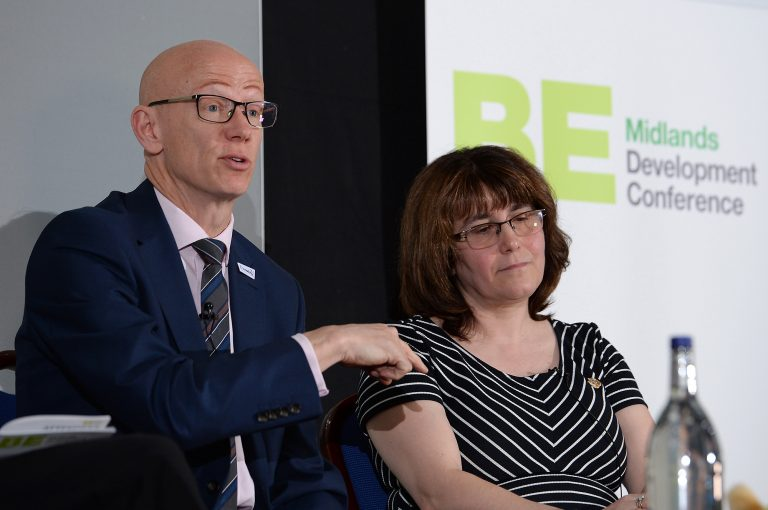 Martin-Reeves-and-Dawn-Baxendale-at-Midlands-Development-Conference-2019