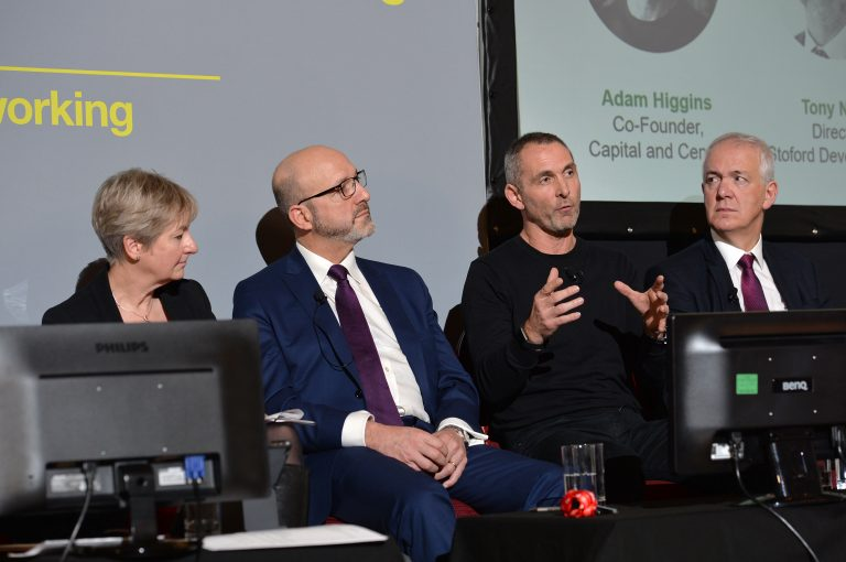 Adam Higgins answers a question from the floor at North West Development Confernce, Liverpool.10.12.19