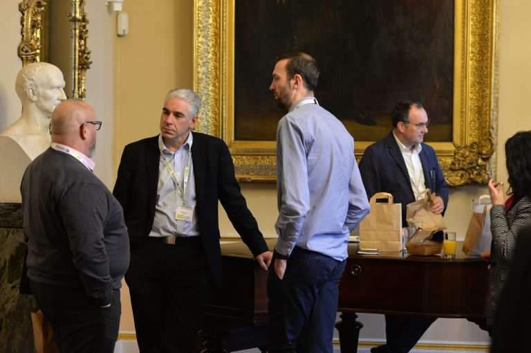 Networking in the Liverpool Town Hall North West Development Confernce, Liverpool.10.12.19