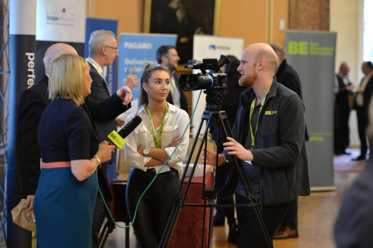 Tom Robson and Amanda Coupland interview an Attendee North West Development Confernce, Liverpool.10.12.19