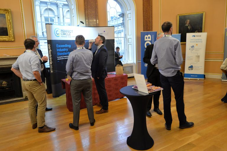Networking in Liverpool Town Hall North West Development Confernce, Liverpool.10.12.19
