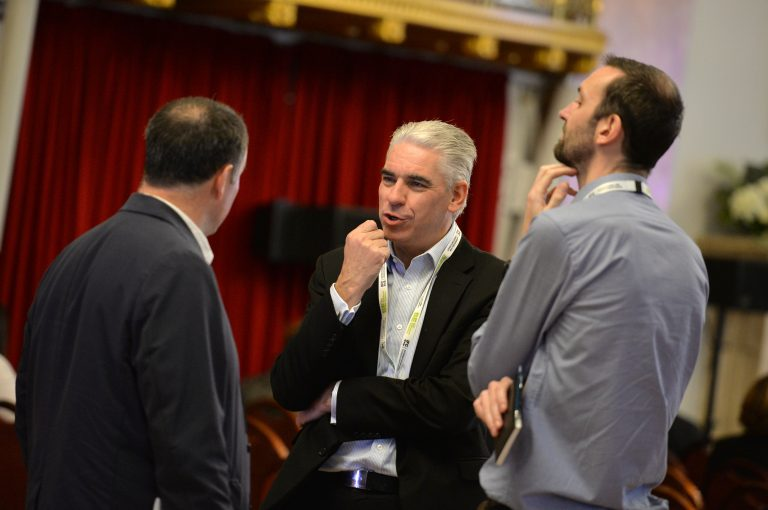 Attendee's discuss the networking opportunities at North West Development Confernce, Liverpool.10.12.19