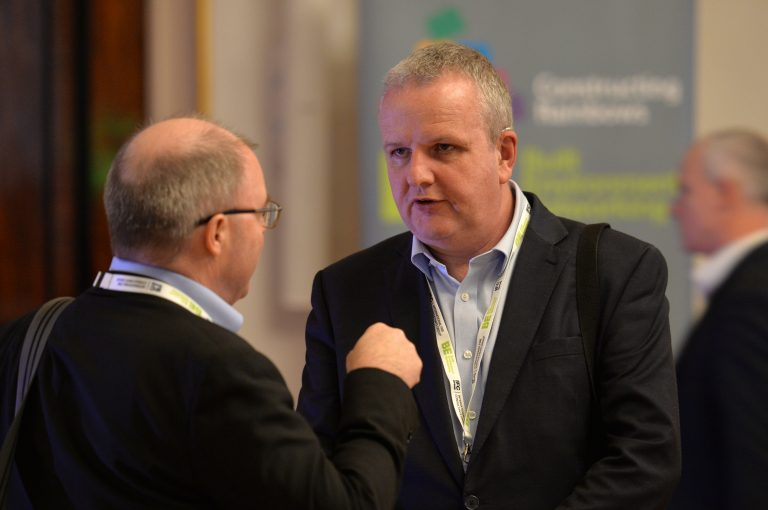 Attendee's discuss business North West Development Confernce, Liverpool.10.12.19