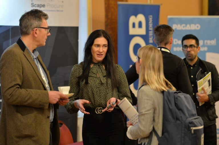 Louise Pearce interacts with attendee's North West Development Confernce, Liverpool.10.12.19