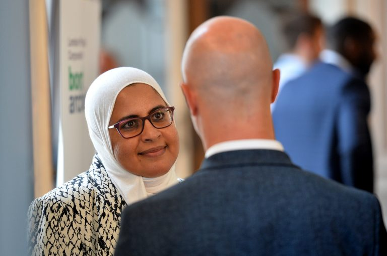 Attendee's discuss the day London Property Club Sept 2019